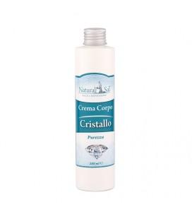 """Crema Corpo Cristallo """"Purezza"""", con Sale Rosa dell'Himalaya, fragranza Salvia e Brezza"""