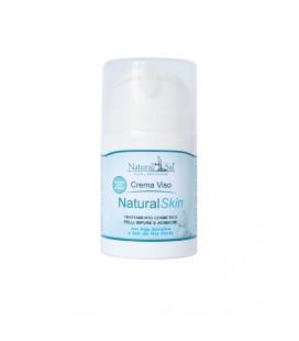 Crema Viso Natural Skin, Pelli impure ed acneiche, Ossido di Zinco, Alga Spirulina e Sale del Mar Morto