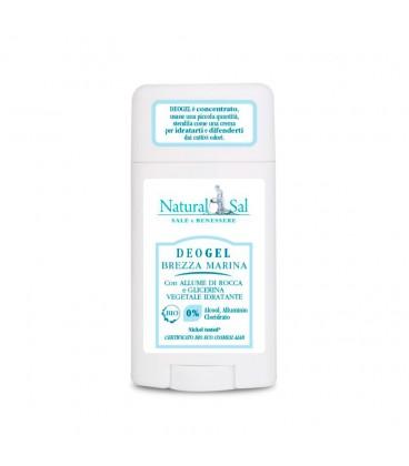 """Deodorante corpo """"Brezza Marina"""", gel, con allume di rocca e glicerina vegetale, per tutti i tipi di pelle"""