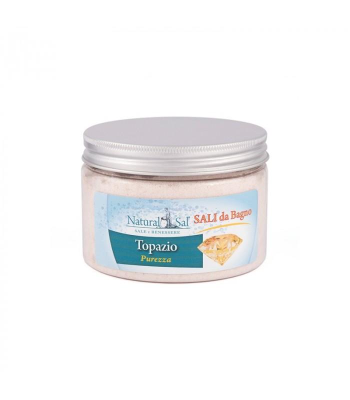 Sali da bagno topazio felicit con sale rosa dell 39 himalaya fragranza arancio e vaniglia - Bagno con sale grosso ...