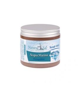 """Scrub Viso Acqua Marina """"Serenità"""", con Sale Rosa dell'Himalaya, fragranza Vaniglia e Eau"""
