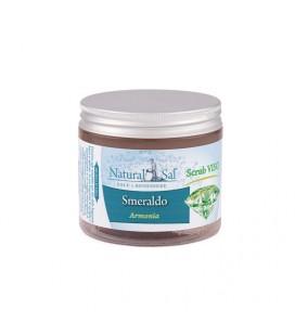 """Scrub Viso Smeraldo """"Armonia"""", con Sale Rosa dell'Himalaya, fragranza Lavanda e Vaniglia"""