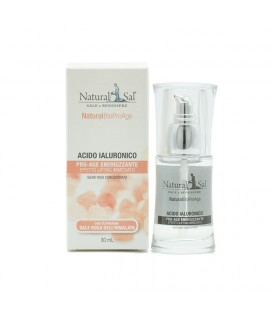 Acido Ialuronico NaturalBio ProAge, antiage, effetto lifting, con Sale Rosa dell'Himalaya