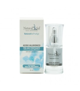 Acido Ialuronico NaturalBio ProAge, antiage, effetto lifting, con Sale del Mar Morto