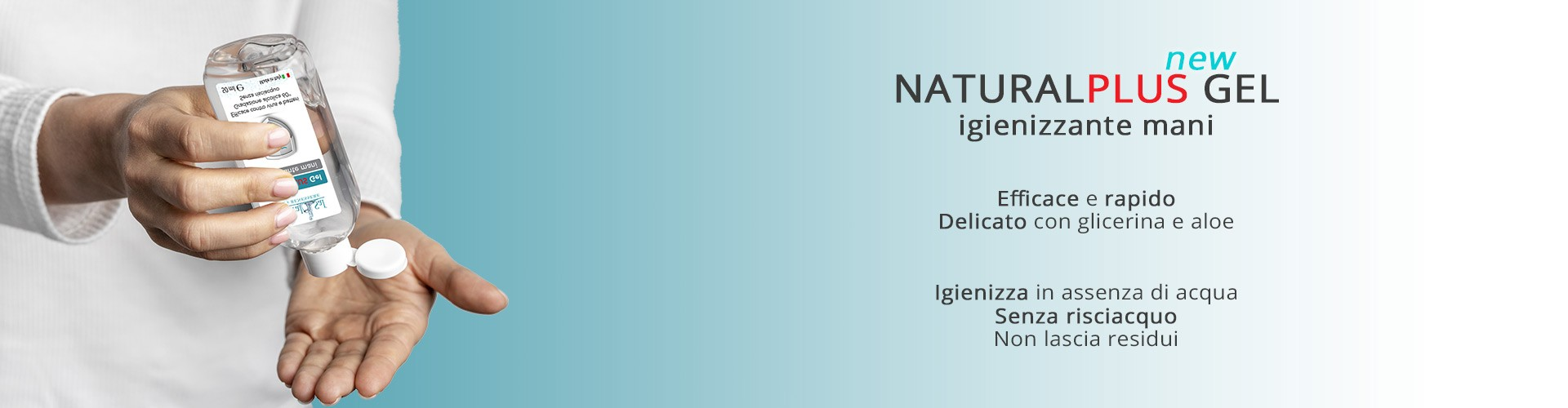 NaturalPlus Gel igienizzante mani DEFINITIVO